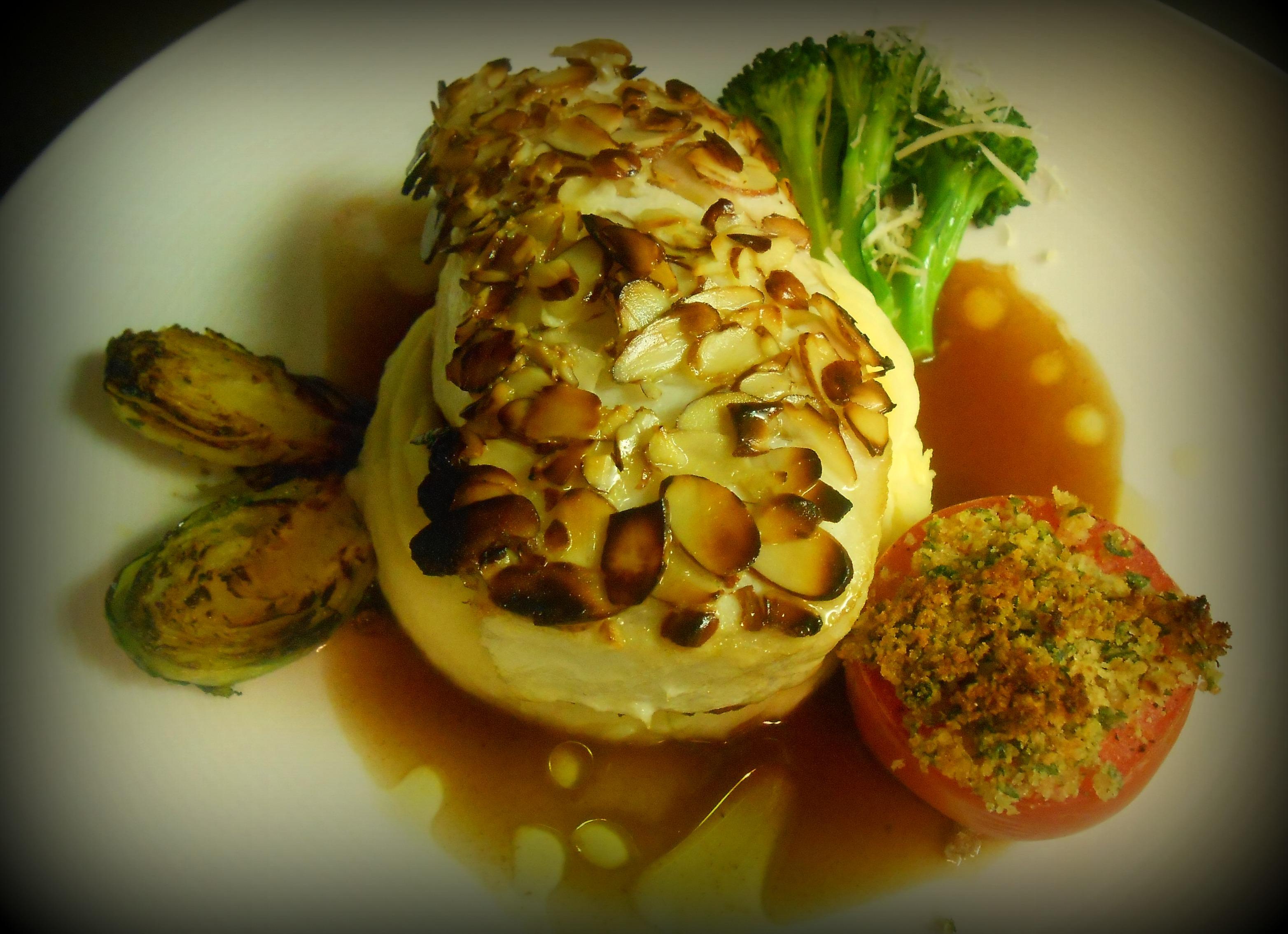 Alaskan Halibut - Piero's Italian Cuisine Alaskan Halibut Dish