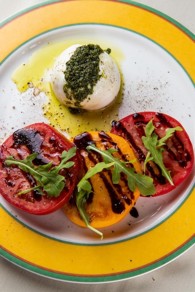 Piero's tomato and cheese salad