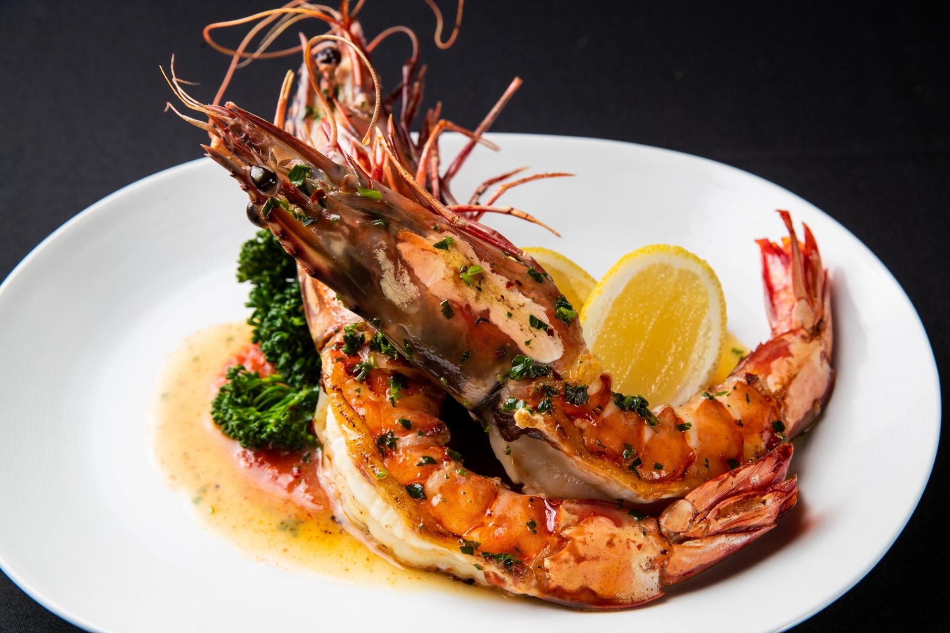 Fresh shrimp scampi on the Piero's menu